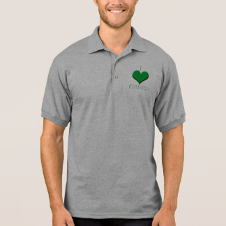 Amo verde polo camiseta