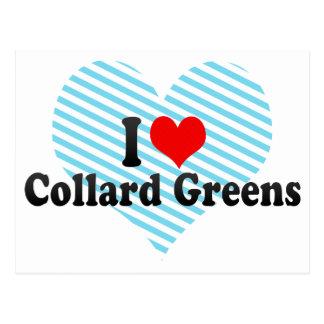 Amo verdes de la col com n tarjetas postales