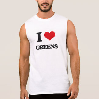 Amo verdes camiseta sin mangas