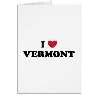 Amo Vermont Tarjeta De Felicitación