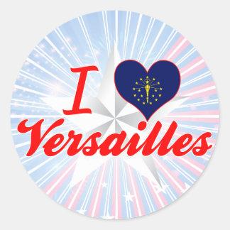 Amo Versalles, Indiana Pegatinas Redondas