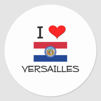 Amo Versalles Missouri Etiqueta Redonda