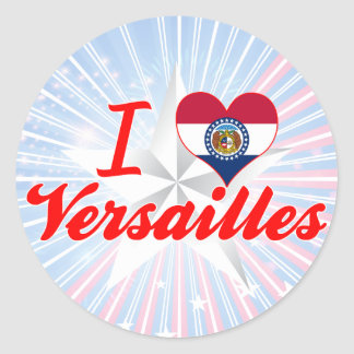 Amo Versalles, Missouri Pegatina Redonda