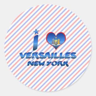 Amo Versalles, Nueva York Pegatina Redonda