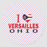 Amo Versalles, Ohio Etiqueta Redonda