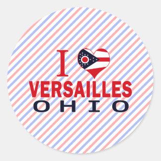 Amo Versalles, Ohio Pegatina Redonda
