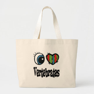 Amo vertebrados del corazón bolsa lienzo