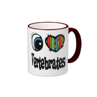Amo vertebrados (del corazón) taza de dos colores