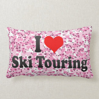 Amo viajar del esquí cojin