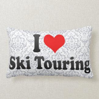 Amo viajar del esquí cojines
