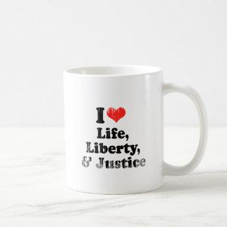AMO VIDA, LIBERTAD, Y JUSTICE.png Taza De Café