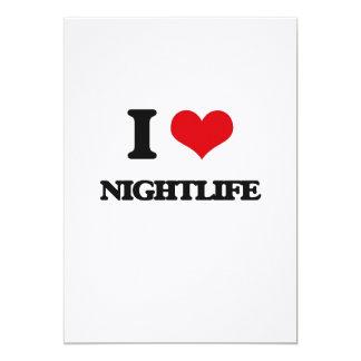 Amo vida nocturna invitación 12,7 x 17,8 cm