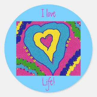 ¡Amo vida! Pegatinas Redondas