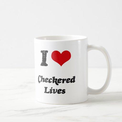 Amo vidas a cuadros taza de café