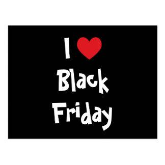Amo viernes negro postal