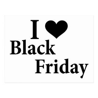 Amo viernes negro postales