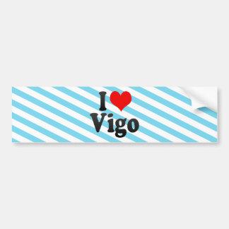 Amo Vigo, España. Yo Encanta Vigo, España Etiqueta De Parachoque