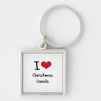 Amo villancicos del navidad llaveros personalizados