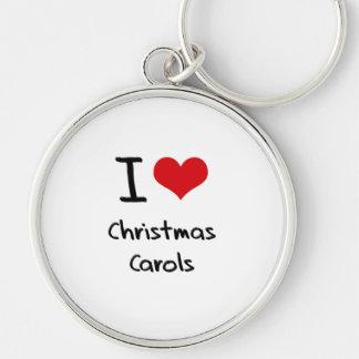 Amo villancicos del navidad llavero personalizado