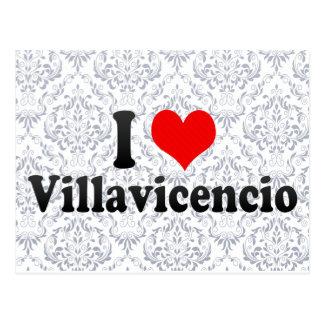 Amo Villavicencio, Colombia Tarjetas Postales