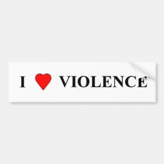 Amo violencia pegatina para auto