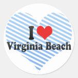 Amo Virginia Beach Etiquetas Redondas