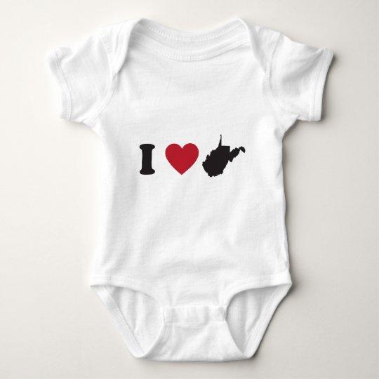 Amo Virginia Occidental Body Para Bebé