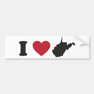 Amo Virginia Occidental Etiqueta De Parachoque