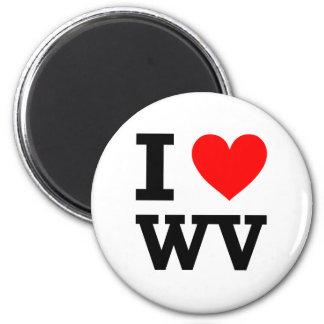 Amo Virginia Occidental Imán Redondo 5 Cm