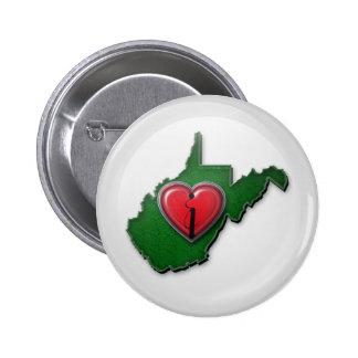 Amo Virginia Occidental también Pin Redondo 5 Cm