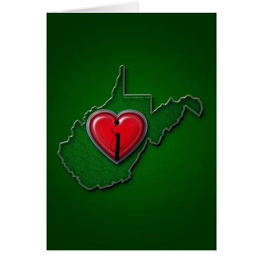 Amo Virginia Occidental también Tarjeta De Felicitación