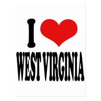 Amo Virginia Occidental Tarjeta Postal