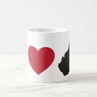 Amo Virginia Occidental Tazas De Café