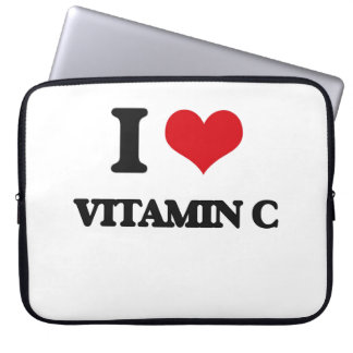 Amo vitamina C Fundas Computadoras