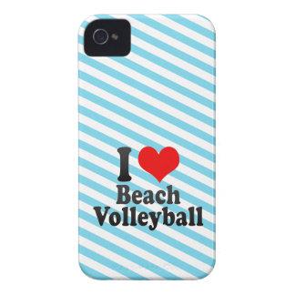 Amo voleibol de playa iPhone 4 cárcasas