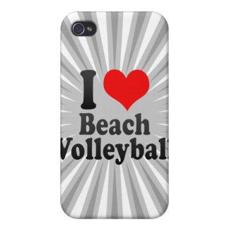 Amo voleibol de playa iPhone 4 cobertura