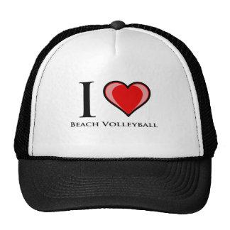 Amo voleibol de playa gorros bordados
