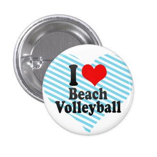 Amo voleibol de playa pin