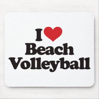 Amo voleibol de playa alfombrillas de ratones