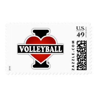 Amo voleibol estampillas