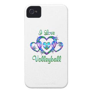 Amo voleibol iPhone 4 Case-Mate cárcasas