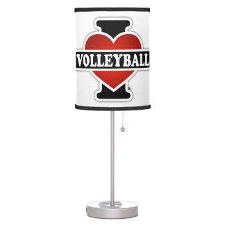 Amo voleibol lámpara de mesa