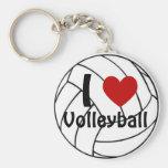 Amo voleibol llavero redondo tipo pin