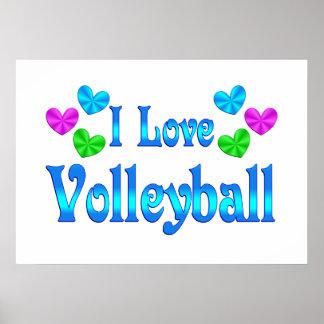 Amo voleibol posters