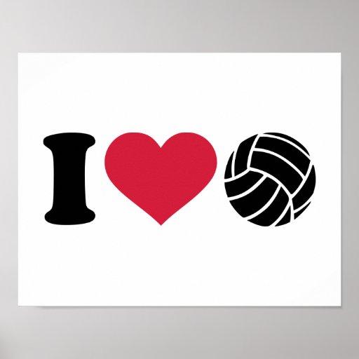 Amo voleibol póster