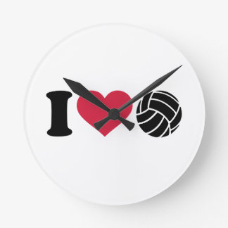 Amo voleibol relojes de pared