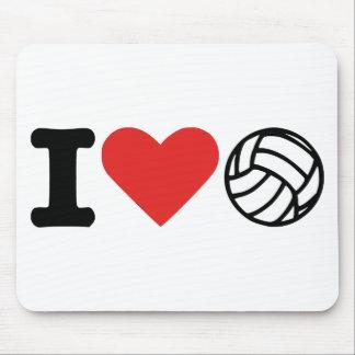 Amo voleibol alfombrillas de ratones
