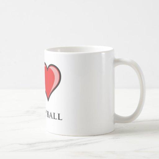 Amo voleibol taza de café
