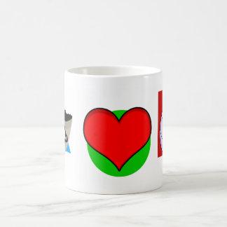 Amo voleo taza de café