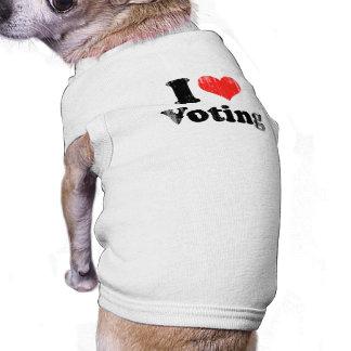 AMO VOTING png Camiseta De Mascota